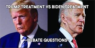 How Trump questions vs how Biden is Questions