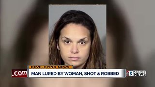 Las Vegas man lured by woman, shot and robbed