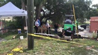 Detectives, crime scene technicians investigating discovery of bones in Fort Pierce