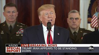 President Trump addresses nation after Iran launches missiles