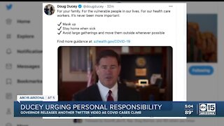 Ducey urging personal responsibility as COVID-19 cases rise