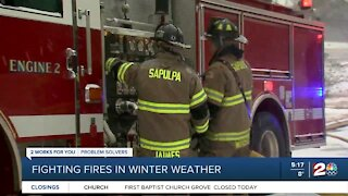 Fighting fires in winter weather