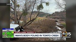 Man's body found in Tonto Creek