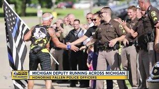 Michigan deputy running across Michigan to honor fallen police officers