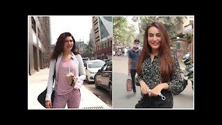 Naagin Actress Surbhi Jyoti & Karishma Tanna snapped in the town | SpotboyE