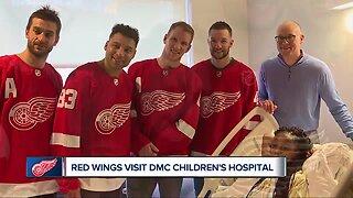 Red Wings visit DMC Children's Hospital