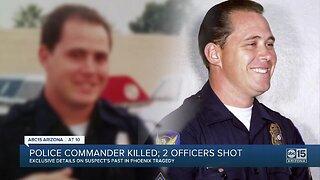 Police commander killed; 2 officers shot