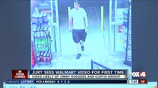 Jury sees Walmart video for the first time in Rodgers murder trial