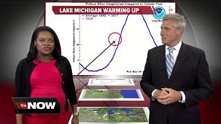 Geeking Out: Lake Michigan warming up