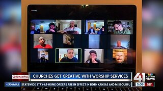 Churches get creative with worship services