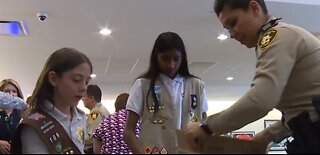 Girl Scouts of Southern Nevada thanked police, nonprofits with cookies