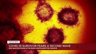 Covid-19 survivor fears a second wave
