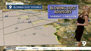 Strong winds and dust concerns