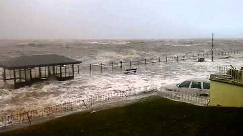 High tide during storm in West Kirby causes massive damage