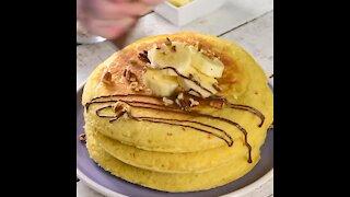 Hotcakes Nutella stuffed