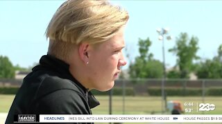 Frontier High School player finds purpose on the football field after tragedy