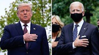 Trump And Biden Visit 9/11 Memorials In New York And Pennsylvania