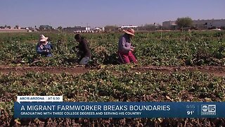 Migrant farmworker finds way to get education, serve country