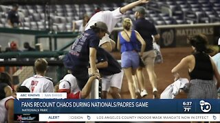 Fans recount chaos during Nationals-Padres game