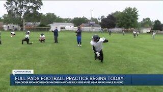Full pads football practice begins Thursday