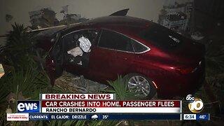 Car crashes into back of Rancho Bernardo home