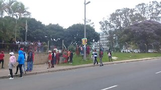 SOUTH AFRICA - Durban - EFF protest outside TVET college (Videos) (zTd)
