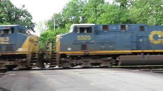 CSX Manifest Mixed Freight Train With Defect Detector from Lodi, Ohio