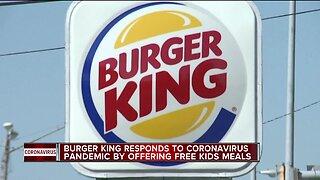 Burger King offering free kids meals during coronavirus pandemic