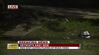 Double shooting during music video filming in Detroit