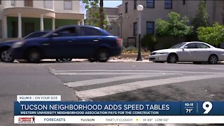 West University Neighborhood adds speed tables