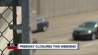Freeway closures this weekend