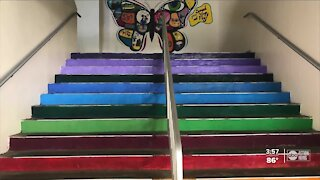 Students create murals to spread positivity