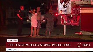 Fire destroys mobile home in Bonita Springs