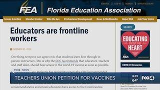 Teachers push for vaccination