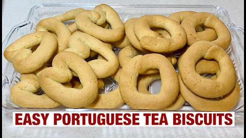 Easy Portuguese Tea Biscuits
