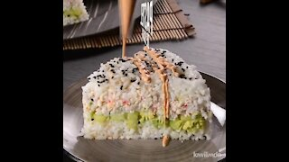 Delicious Sushi Cake