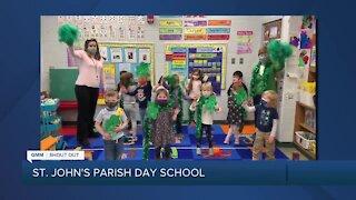 Good St. Patrick's Day Morning Maryland from St. John's Parish Day School