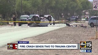 Crash in Gilbert sends two people to the hospital