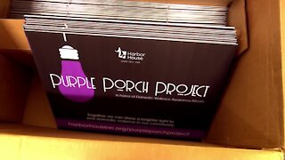Purple Porch Project honors domestic violence awareness month