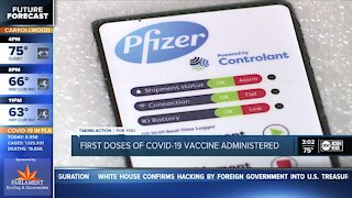 COVID-19 vaccine arrives in Tampa