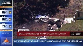 Small plane crashes in Pasco Co. backyard