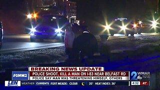 Baltimore County Police shoot, kill man on I-83