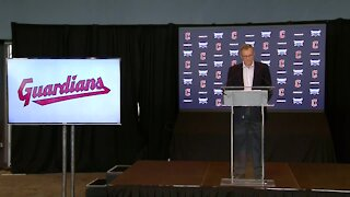 Officials speak after changing Cleveland's baseball team name to The Guardians.