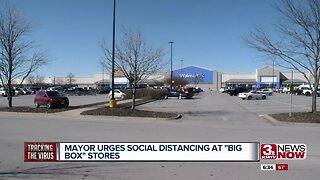 """Mayor urges social distancing at """"big box"""" stores"""