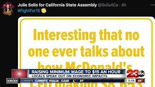Locals speak out on minimum wage increase