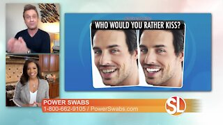 Power Swabs: Whiter teeth can help you to look younger