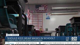 Some parents don't think kids should wear masks at school