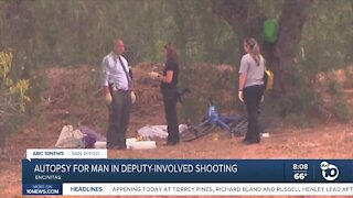 Autopsy for man killed in deputy-involved shooting
