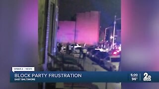 Baltimore Block Party Frustrations