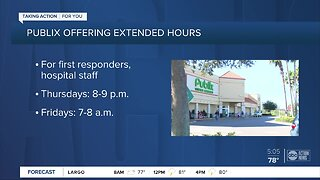 Publix offers special shopping hours for frontline employees